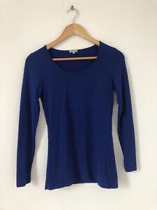 Kettlewell Women Blue Top Jumper Size Small Long Sleeve Stretch