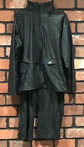 NWT Helly Hansen Men XL 2 Piece Workwear Black Jacket Pants Waterproof Wind