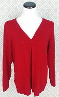 Womens Lane Bryant Bright Red Sweater Top Plus Size 14/16 14 16 Long Sleeve