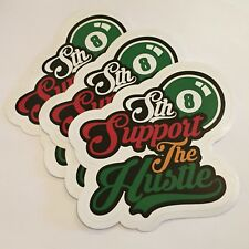Sth Support The Hustle Rasta Stickers  4x4 (3 Pack) FREE SHIPPING