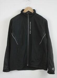 SALOMON CLIMA WIND Men's MEDIUM Light Mesh Lined Full Zip Jacket 22695_JS
