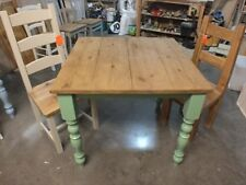RECLAIMED PAINTED 3' X 3' FARMHOUSE TABLE BESPOKE SIZES & COLOURS GREEN