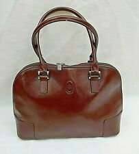 "SMITH & CANOVA DARK BROWNREAL LEATHER BAG VGC W12""XH9""XD4"" FREE UK P&P!!"