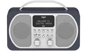 Bush Portable DAB FM Radio Bluetooth Digital LCD Display Mains Battery Alarm RF