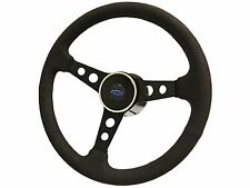 1969 - 1989 Chevy Camaro Steering Wheel Suede Kit with Blue Bow Tie Emblem
