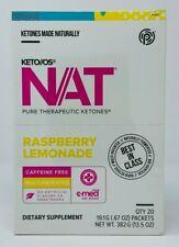 Pruvit Keto OS NAT Ketones CAFFEINE FREE Raspberry Lemonade - 20 Packets