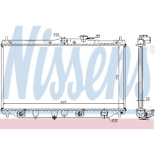 Kühler Motorkühlung - Nissens 622831