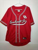 Dale Earnhardt Jr Sz M baseball jersey NASCAR AUTHENTIC #8 Track CHASE Budweiser