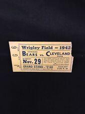 VINTAGE 1942 NFL CLEVELAND RAMS CHICAGO BEARS FOOTBALL TICKET STUB