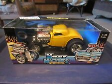 muscle machines 33 ford coupe 1:18 die cast yellow