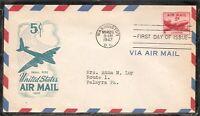 US Scott # C33 USA Air Mail FDC . ioor Cachet. 1
