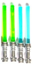 LEGO MINIFIGURE WEAPONS (4) LIGHTSABERS GREEN BLUE STAR WARS GRIEVOUS JEK