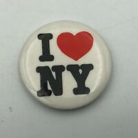 Vintage I Heart Love New York Button Pin Pinback   K7