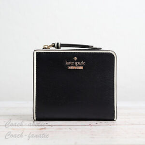 NWT Kate Spade Patterson Drive Painted Edge Small L-zip Bifold Leather Wallet