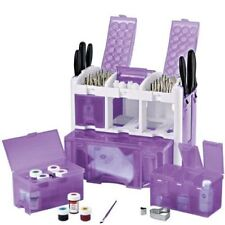 Wilton Ultimate Caddy Purple Cake Decorating Kit Set + 195 pieces tools + extras