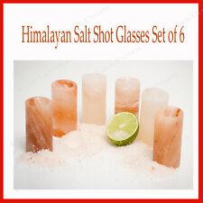 Himalayan Salt Shot Glasses,Food Grade Salt Glasses New Set of 6