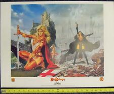 Lady Pendragon Lithograph 1999 18  x 24  Joe Jusko Dynamic Forces Matt Hawkins F Comic Art