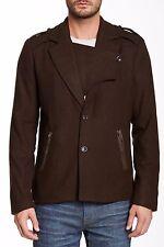 Joe's Jeans Commodore Wool Blend Coat Peacoat Jacket Olive S G141085WBF Nwt $395