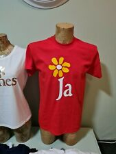 More details for james the band t shirt tim booth 1990 red tee retro 90s madchester come home