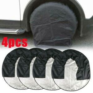 NEW 4pcs/set Heavy Duty Tire Cover Motorhome Wheel Covers Rain Protection UK