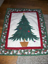 handmade quilted christmas panel