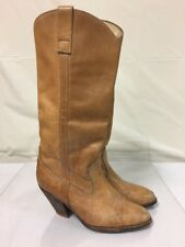 Vintage SAMELLO Women's WESTERN Cowgirl BOOTS~Brown LEATHER~High Heel~Brazil~7M