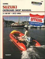 Suzuki Outboard 2-140 HP Repair Manual 1977-1984