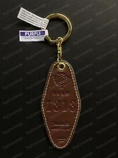 DISNEY Parks HOLLYWOOD HOTEL Tower of Terror KEYCHAIN Room 1313 Faux Leather NWT