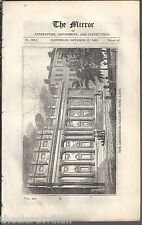 The Mirror 1829  Grosvenor Gallery Park Lane Plate & 1 side text (Ep)