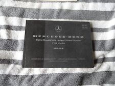1978 1979 Mercedes W123 300TD parts Catalog manual  C  Engine chassis
