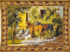 """Before The Hunt Large Horses Dogs Hunting Scene Tapestry Wall Hanging 76""""x56"""""""