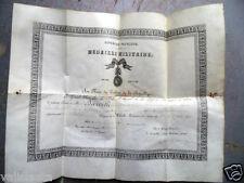 DIPLOME MEDAILLE MILITAIRE GENDARMERIE 1898 / 13ème ? LEGION