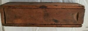 19th Century Wood Dovetailed Candle Box - INDIANA AMISH MADE
