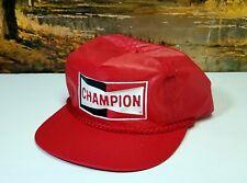 Vtg Champion Spark Plugs SnapBack Advertising Trucker Hat Cap