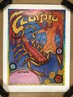 Scorpio Vintage Astrology Poster Zodiac Signs 1976 Pro Arts Feret Pinup 1970s