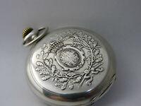 Orologio da tasca argento JUNGHANS Taschenuhr  silver pocket watch working C180