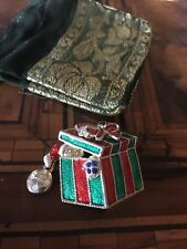 Vintage! Christmas Gift Brooch Spilla Dono Di Natale Signed ASO