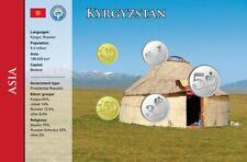 Kirgisistan, 10 Tyiyn - 5 Som, 5 Münzen, WKMS englisch
