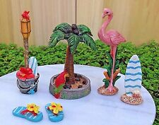 Miniature Dollhouse FAIRY GARDEN ~ 5 Piece Mini BEACH Accessory Set Sea Seaside