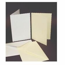 50 x C6 ivoire taille deckled cartes vierges 225gsm & Enveloppes Carte making craft 285
