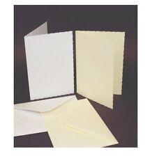 50 x C6 SIZE IVORY DECKLED BLANK CARDS 225gsm & ENVELOPES CARD MAKING CRAFT 285