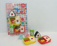Japanese Iwako Puzzle Eraser Yummy Bento Lunch Box Sushi Rice Gift Card Set NEW