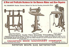 1915 CHAMPION HARNESS STITCHER & TIRE TREADING SEWING MACHINE AD ST. LOUIS MO