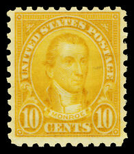 Scott 591 1925 10c Monroe Perforated 10 Rotary Press Issue F-VF OG LH Cat $40