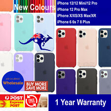 New Silicone Case Cover for iPhone 12 Mini Pro XS MAX XR 7 8 6 Plus Shockproof