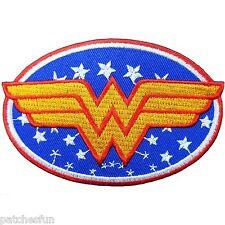 Wonder Woman Comics Superhero DC Stars Logo Cartoon Kids Iron on Patches #0500