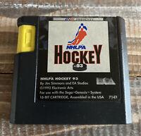 Vintage Sega Genesis 1992 NHLPA Hockey 93 Video Game Cartridge Only