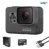 GoPro HERO 5 Black Edition 4K Action Camera W/ Battery + USB Charger + SD Card