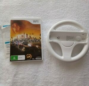 (Wii Game) Need For Speed: Undercover / NFS: Under Cover + Wii Wheel