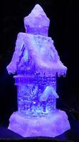 LED Lampe Haus Turm groß Schnee Eis Winterstimmung Farbwechsel Glitzer Kirche